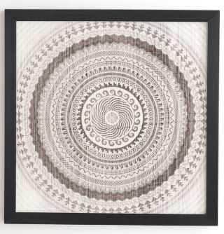 """winter wheat"" -30 x 30 basic black frame - Wander Print Co."