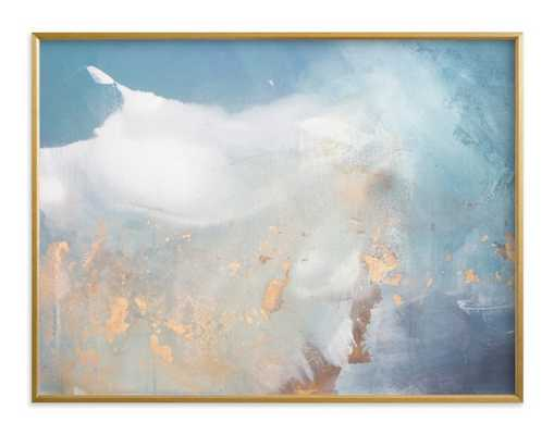 undertow - horizontal  30 x 40 brass frame - Minted