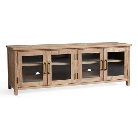 """Parker 68"""" Reclaimed Wood Media Console - Pottery Barn"""