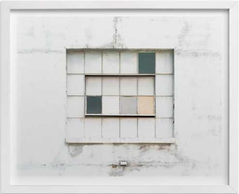 Industrial Window - 20x16 -White Wood Frame - Minted
