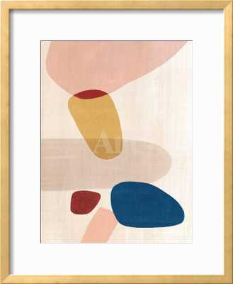 Pink Pebbles I - Ramino Gold Thin Frame - art.com