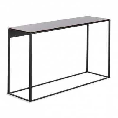 BluDot Minimalista Console Table - Black/Black Mirror - Perigold