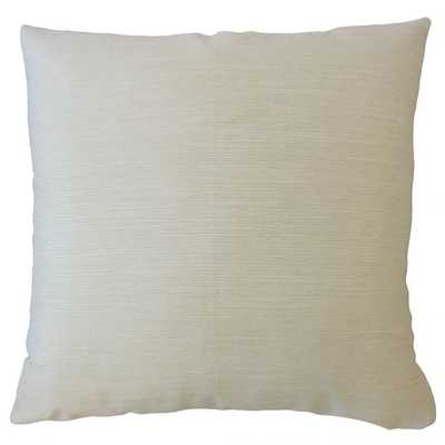 """Jarlath Solid Pillow Ivory, 24"""" x 24"""" - Pillow Cover Only - Linen & Seam"""