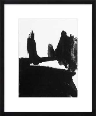 "Landscape of a field and cypress trees - 19x23"" - Black Wood Frame with Matte - Artfully Walls"