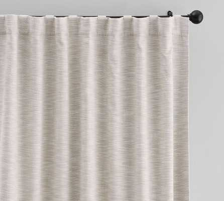 """SEATON TEXTURED CURTAIN - Neutral - Black Out - 108"""" - Pottery Barn"""