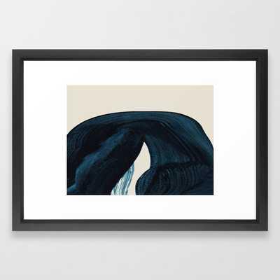 Lux Blue Framed Art Print 15 x 21 - Society6