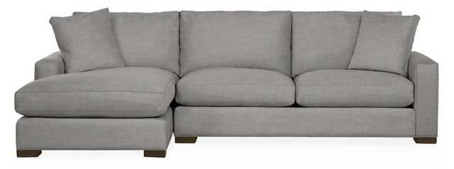 "Metro Sectionals, 112"" sofa with right arm chaise - Room & Board"