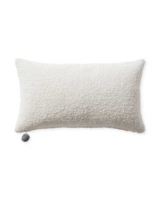 """Perennials Performance Textured Loop 12"""" x 21"""" Pillow Cover - Ivory - Insert sold separately - Serena and Lily"""