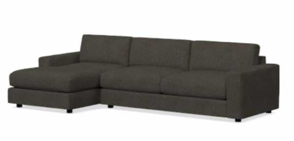 Urban 2-Piece Chaise Sectional - Left Arm Chaise - West Elm