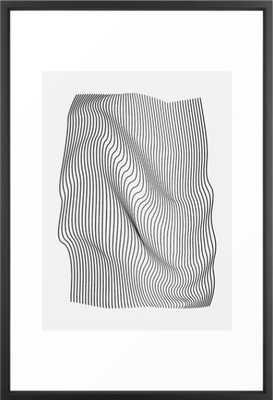 Minimal Curves Framed Art Print - Society6