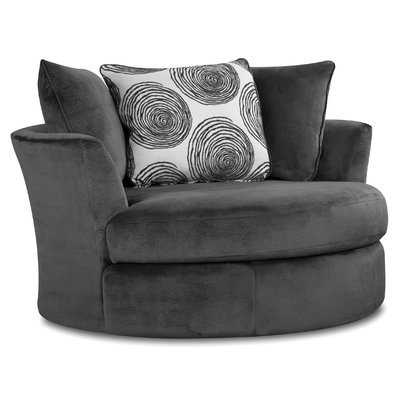 Acosta Swivel Barrel Chair - Wayfair