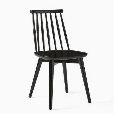 Windsor Dining Chair, Black, Set of 2 - West Elm