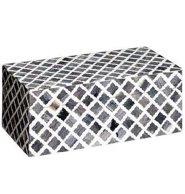 Fantasy Box Small in Grey & White - Koa Artisans
