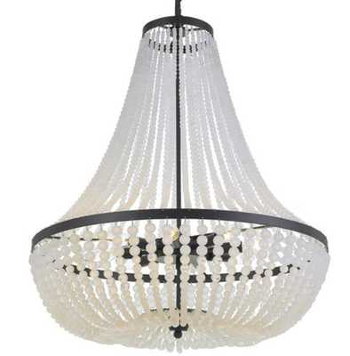 SOPHISTICATED SOPHIE CHANDELIER - LARGE, BLACK - Shades of Light