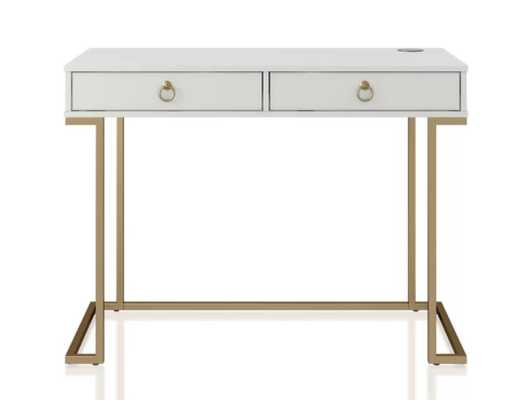 White Camila Desk - Wayfair