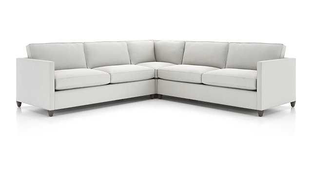 Dryden 3-Piece Corner Sectional - douglas, lace and doherty legs - Crate and Barrel