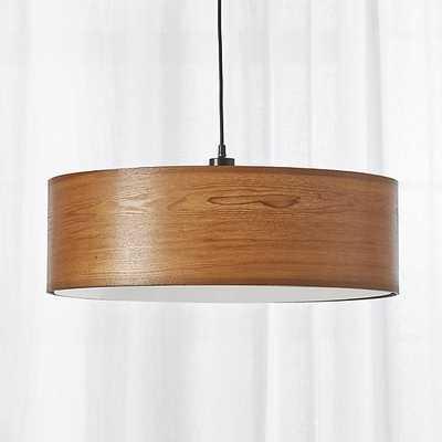 wood veneer pendant - CB2