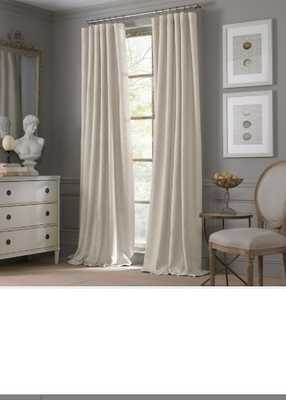 Valeron Estate Cotton Linen 95-Inch Window Curtain Panel in Flax - Bed Bath & Beyond
