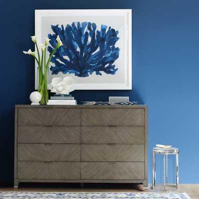 Broderick 8 Drawer Dresser, Nordic Grey, Polished Nickel - Williams Sonoma