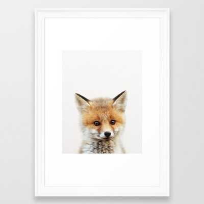 Baby Fox, Baby Animals Art Print By Synplus Framed Art Print by synplus - Society6