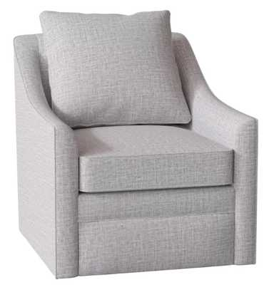 QUINCY SWIVEL ARMCHAIR, Zula Pumice - Birch Lane