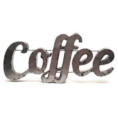 Coffee Sign with Rebar Wall Décor - Wayfair