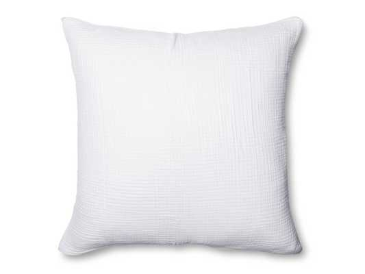 Cloud Cotton Euro Sham, White - Parachute