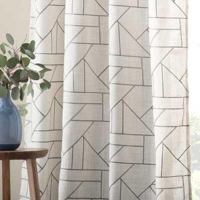 Nolan Embroidered Geometric Semi-Sheer Rod Pocket Curtain Panels - Wayfair