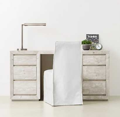 CALLUM STORAGE DESK . Weathered White - RH Teen