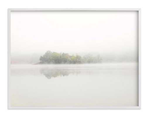 "The Island - 40"" x 30"", white wood frame - Minted"