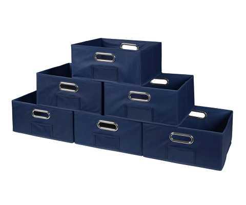 Niche Cubo Half-Size Foldable Fabric Storage Bin - Blue - Wayfair