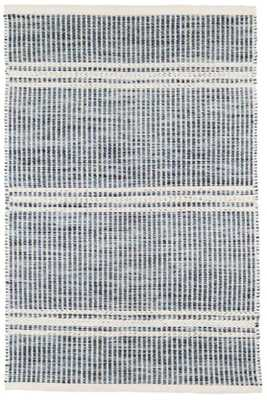 MALTA BLUE WOVEN WOOL RUG- 5'x8' - Dash and Albert
