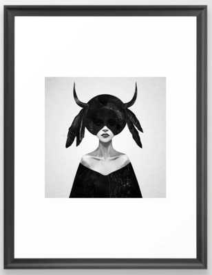 """The Mound II - 20"""" x 26"""" - Vector Black Frame - With Mat - Society6"""