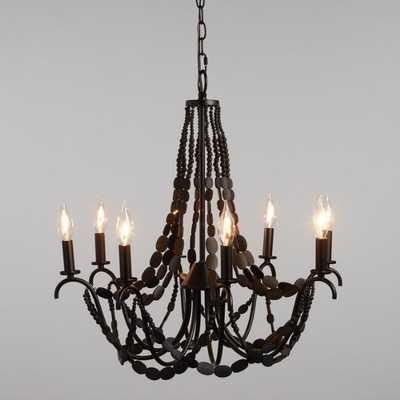 Black Wood Bead 8 Light Chandelier by World Market - World Market/Cost Plus