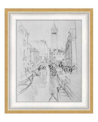 CANAL SKETCH Framed Art - McGee & Co.