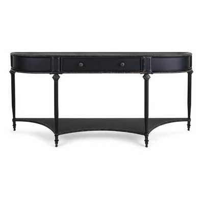 Atheron Black Metal Console with Drawer - Mercer Collection