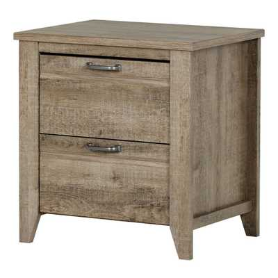 Lionel 2-Drawer Weathered Oak Nightstand - Home Depot
