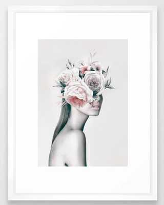 WOMAN WITH FLOWERS 11 Framed Art Print 15x21 - Society6