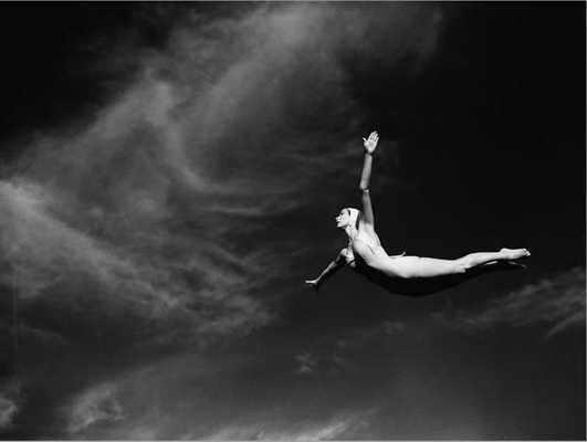 Woman Performing Swan Dive - art.com