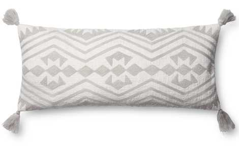 MARIN LUMBAR PILLOW, WHITE AND GRAY, POLYESTER FILL - Lulu and Georgia
