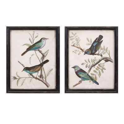 Maisly Bird Wall Decor - Ast 2 - Mercer Collection