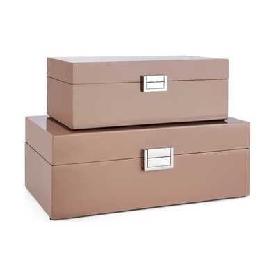 Cheyenne Boxes - Set of 2 - Mercer Collection