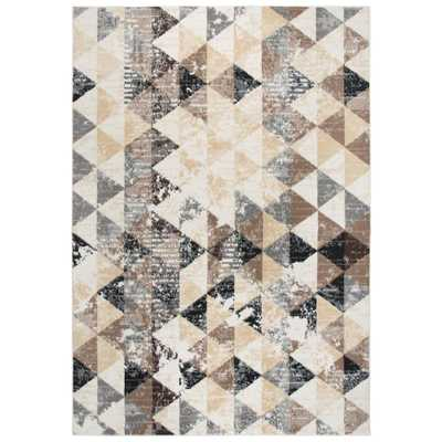 xcite Ivory Distressed Machine Made 8 ft. x 10 ft. Area Rug - Home Depot