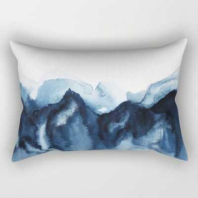 Abstract Indigo Mountains Rectangular Pillow - Society6