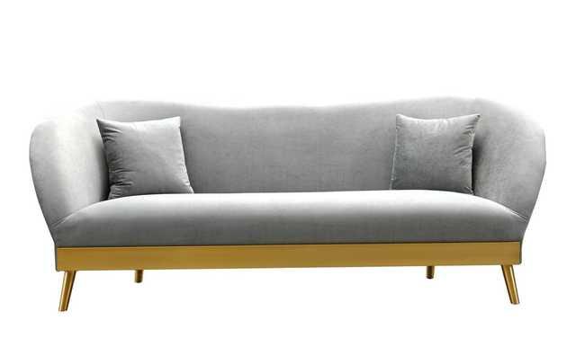 Gianna Morgan Velvet Sofa - Maren Home
