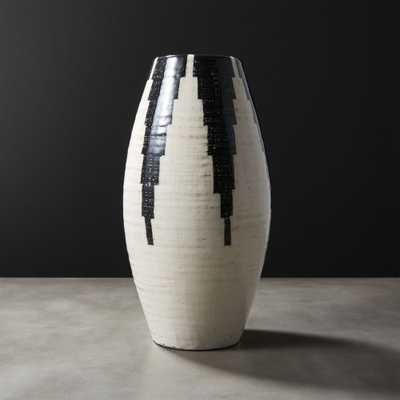 Siena Black and White Vase - CB2
