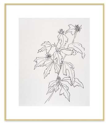"Leaves Rose of Sharon - 20""x24"" - Artfully Walls"