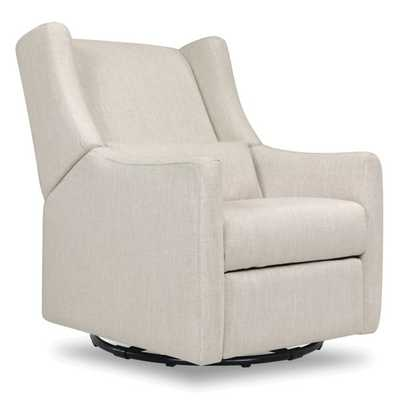 Babyletto Kiwi Swivel Electronic Recliner in White Linen - Buy Buy Baby