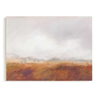amber waves - wrapped canvas - Minted