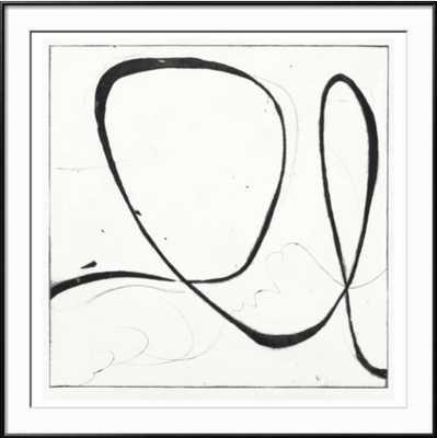 "Big Swirl 2 Ronda Black frame 40"" x 40"" - art.com"